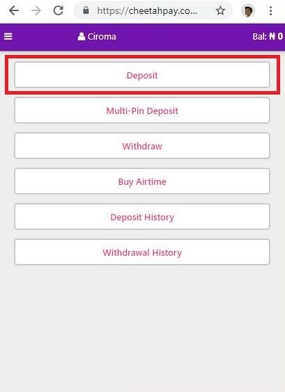 Cheetahpay User Dashboard